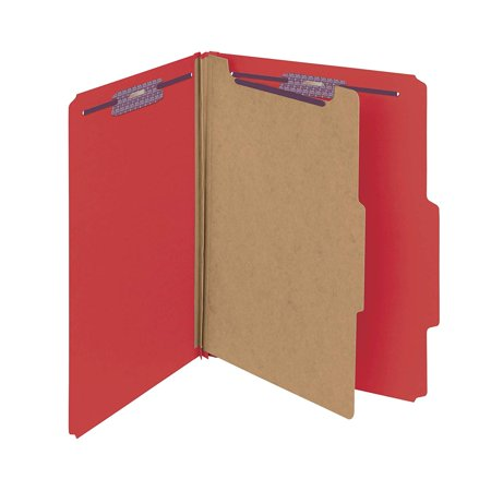 Divider 3' Expansion 8 Fastener (Pressboard Classification File Folder with SafeSHIELD Fasteners, 1 Divider, 2