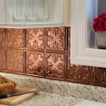 (Fasade  Traditional Style #10 Polished Copper 18-square Foot Backsplash Kit)
