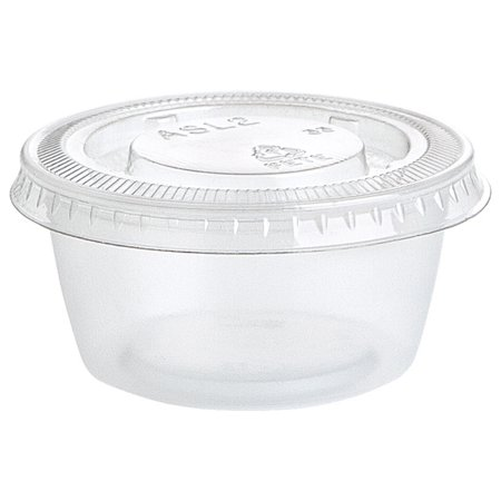 Clear Plastic Gelatin Shot Cups with Lids, 2oz, 25ct
