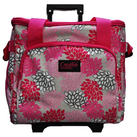 Creative Notions XL Serger Trolley Pink Gray Floral