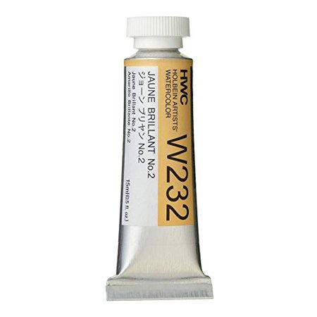 Holbein Artist Watercolor 15ml Tube (Holbein - Artists' Watercolor - 15ml - Jaune Brilliant #2 )