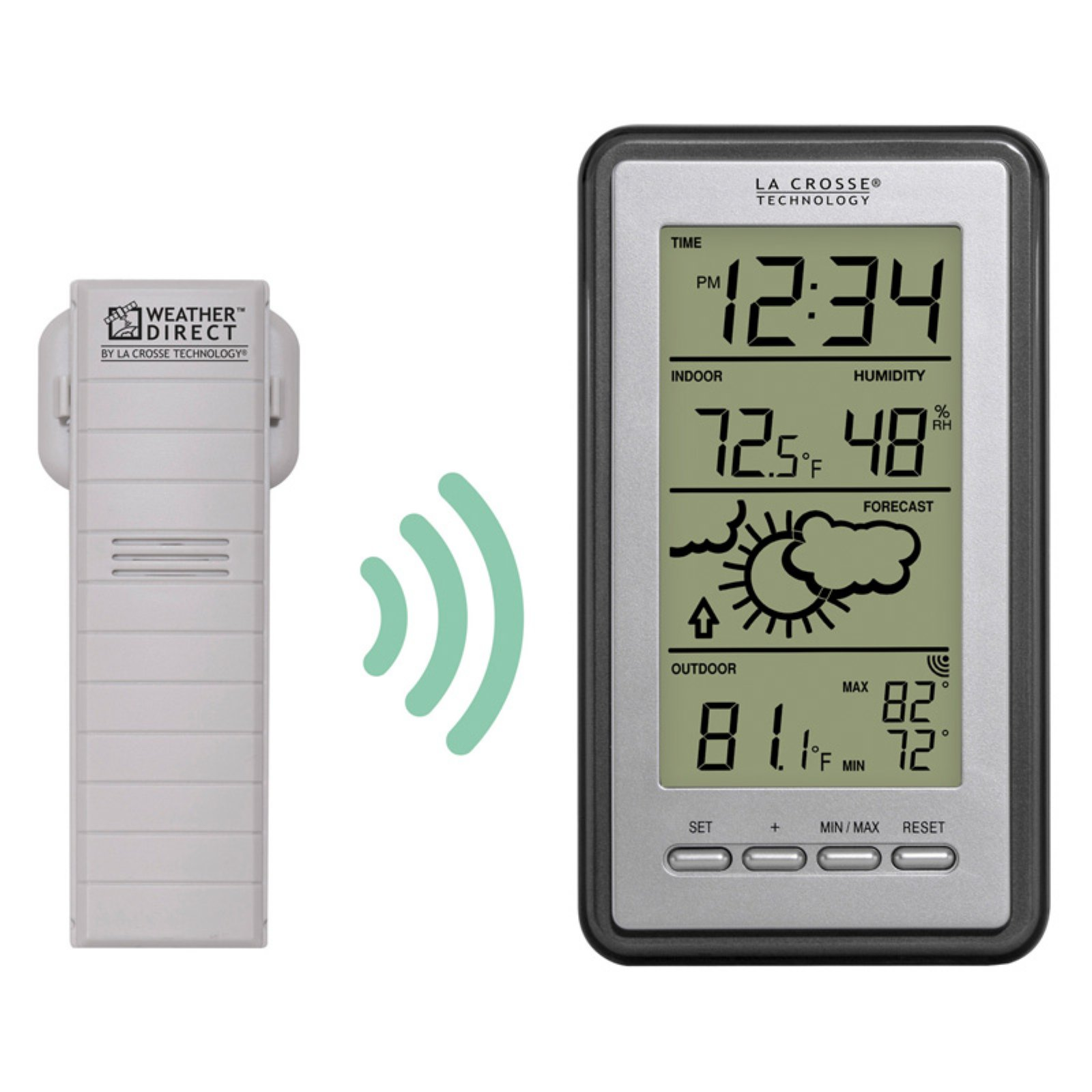 La Crosse Technology Digital Forecast Station with Temperature and Humidity