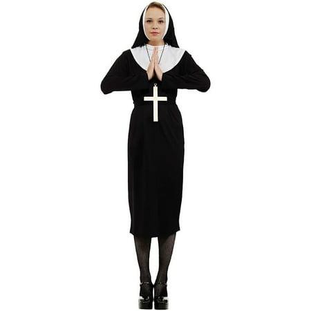 Nun Adult Costume, One Size - Plus Size Nun