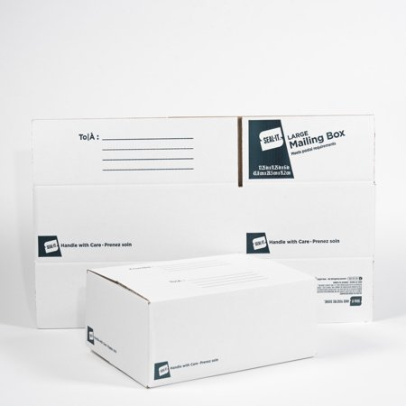 Seal-It Large Mailing Box 17.25 x 11.25 x 6 Inches, Pack of