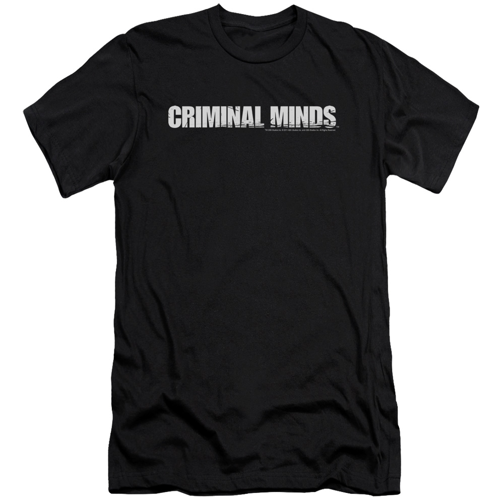 Criminal Minds Men's  Logo Slim Fit T-shirt Black