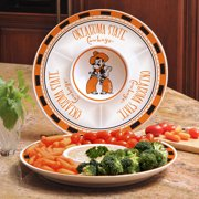 Oklahoma State Ceramic Chip and Dip Plate