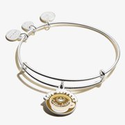Alex and Ani Life Happens, Coffee Helps Expandable Wire Bracelet, Shiny Silver