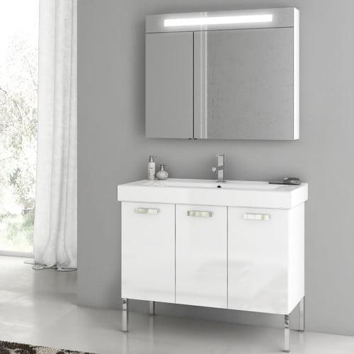 """Image of ACF Bathroom Vanities Cubical 37.4"""" Single Bathroom Vanity Set"""