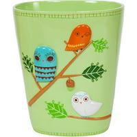 Creative Bath Give A Hoot Ceramic Waste Basket