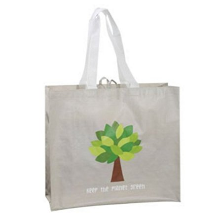 Keep the Planet Green Reusable Tote Bag Groceries Shopping Eco Friendly 2-Pack Dharma Eco Friendly Bag