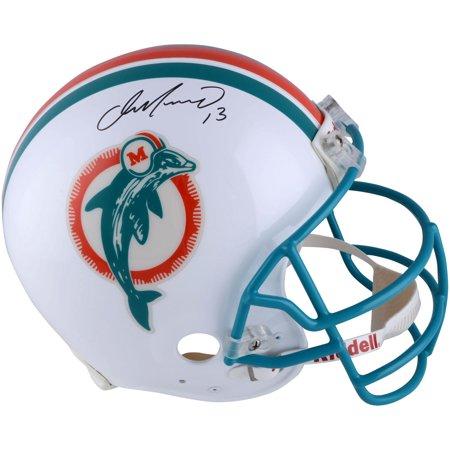 Dan Marino Autographed Pro Football (Dan Marino Miami Dolphins Autographed Throwback 1980-1996 Marino Mask Pro-Line Helmet - Fanatics Authentic Certified)