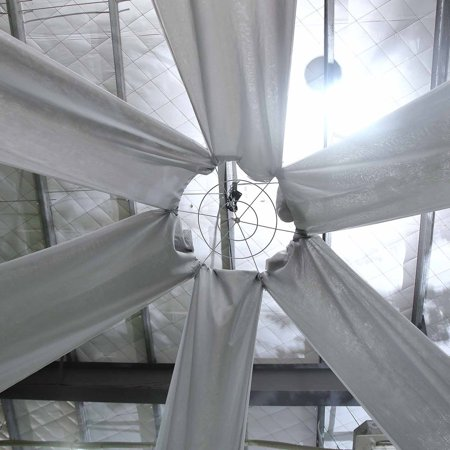 BalsaCircle 40 feet long Premium Sheer Voile Ceiling Draping Panel - Wedding Ceremony Party Home - Graduation Ceremony Decorations