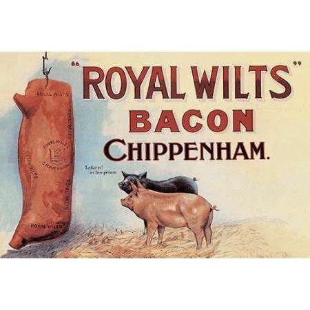 Pigs And Pork Royal Wilts Bacon Poster Print By Advertisement Walmart Com Walmart Com