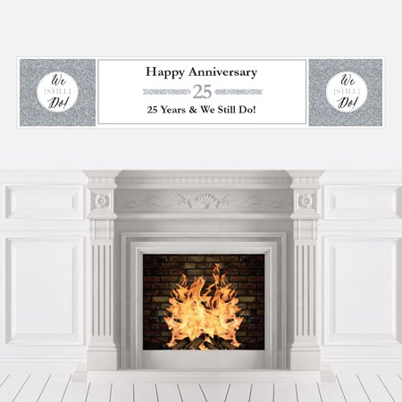 We Still Do - 25th Wedding Anniversary Party Decorations Party Banner ()
