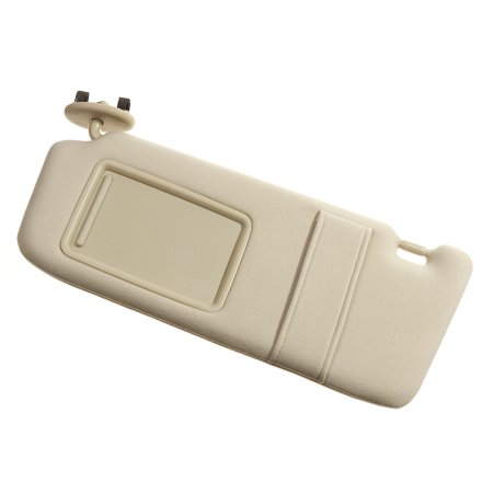 Front Sun Visor w/ Mirror Left Driver Side Beige For Toyota Camry 2007 2008 2009 2010 2011