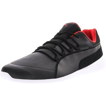 Puma Men's Ferrari Evo Cat Black / White Ankle-High Fashion Sneaker - 11.5M ()
