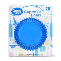 Great Value Cupcake Liners, Assorted Colors, 75 Count