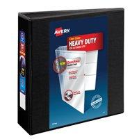 """Avery Heavy Duty View Binder, 3"""" Rings, DuraHinge(TM), Black"""