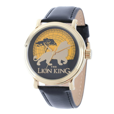 Watch 13 Days Of Halloween Online (Stainless Steel Men's Lion King Black Leather Gold-tone)