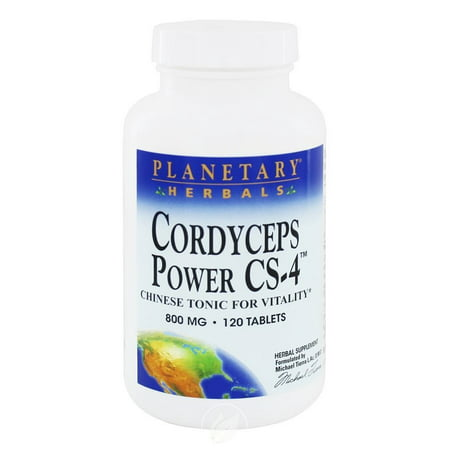 Cordyceps Power Planetary Herbals 120 Tabs, Pack of