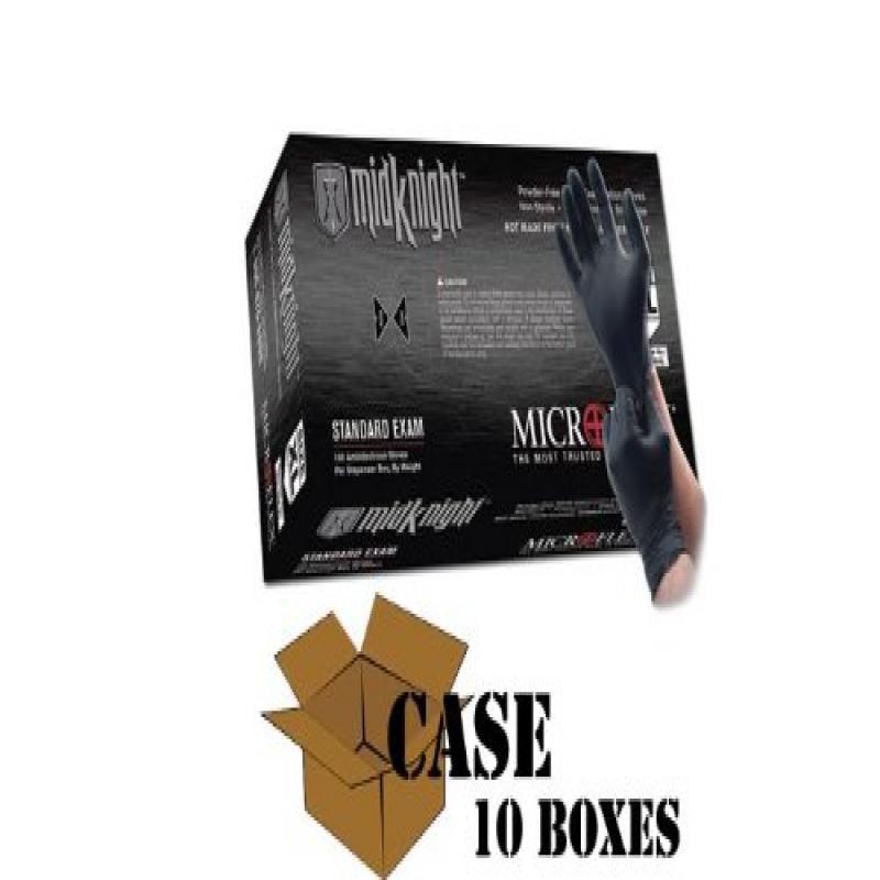 Microflex - Black MidKnight Nitrile Gloves-Case - Size: X...