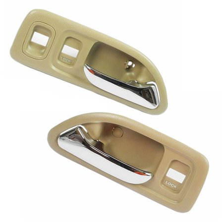 For 94-97 Honda Accord Tan Front Left & Front Right Interior Inner Inside Door Handle 2PCS 94 95 96 97 DH15 97 Honda Accord Manual