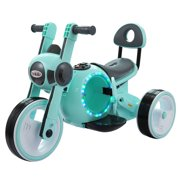 Tobbi 3 Wheel LED Mini Motorcycle Trike, Ride on Toy for Kids Battery Powered Toys for Boys and Girls, Blue
