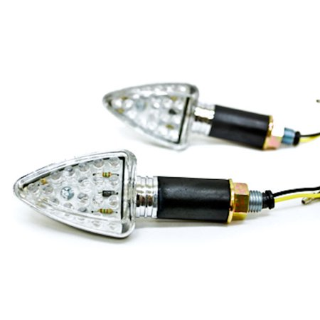Mini Custom LED Turn Signal Indicator Lights Lamp For Suzuki Burgman Moped Shuttle FA50 FZ50 - image 3 of 5