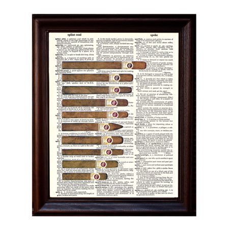 Ten Cigars - Dictionary Art Print Printed On Authentic Vintage Dictionary Book Page - 8 x 10.5 (Macanudo Vintage Cigars)