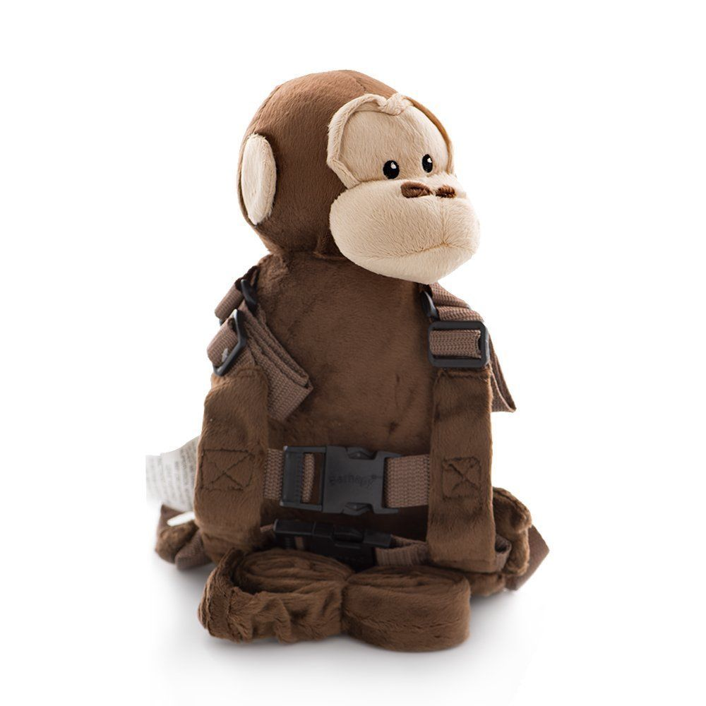 Berhapy 2 in 1 Monkey Toddler Safety Harness Children's Walking Leash Strap