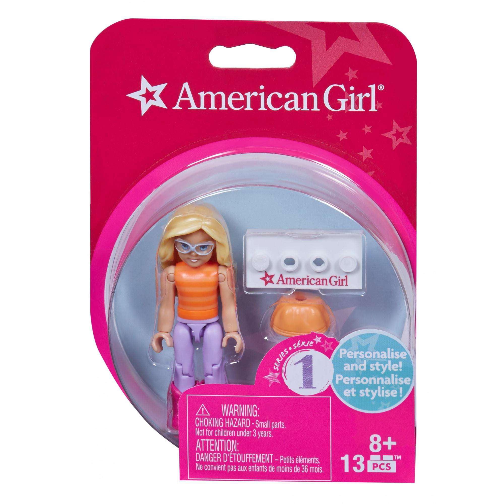Mega Bloks American Girl Striped Shirt & Purple Pants Mini Figure