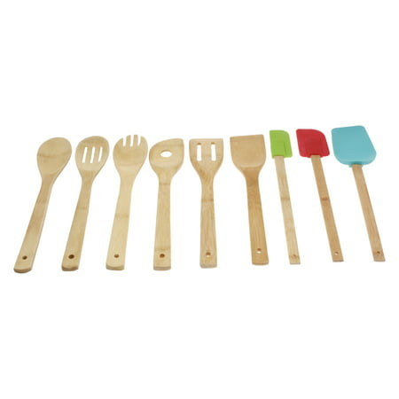 Mainstays Bamboo Kitchen Tool Set, 9 Piece