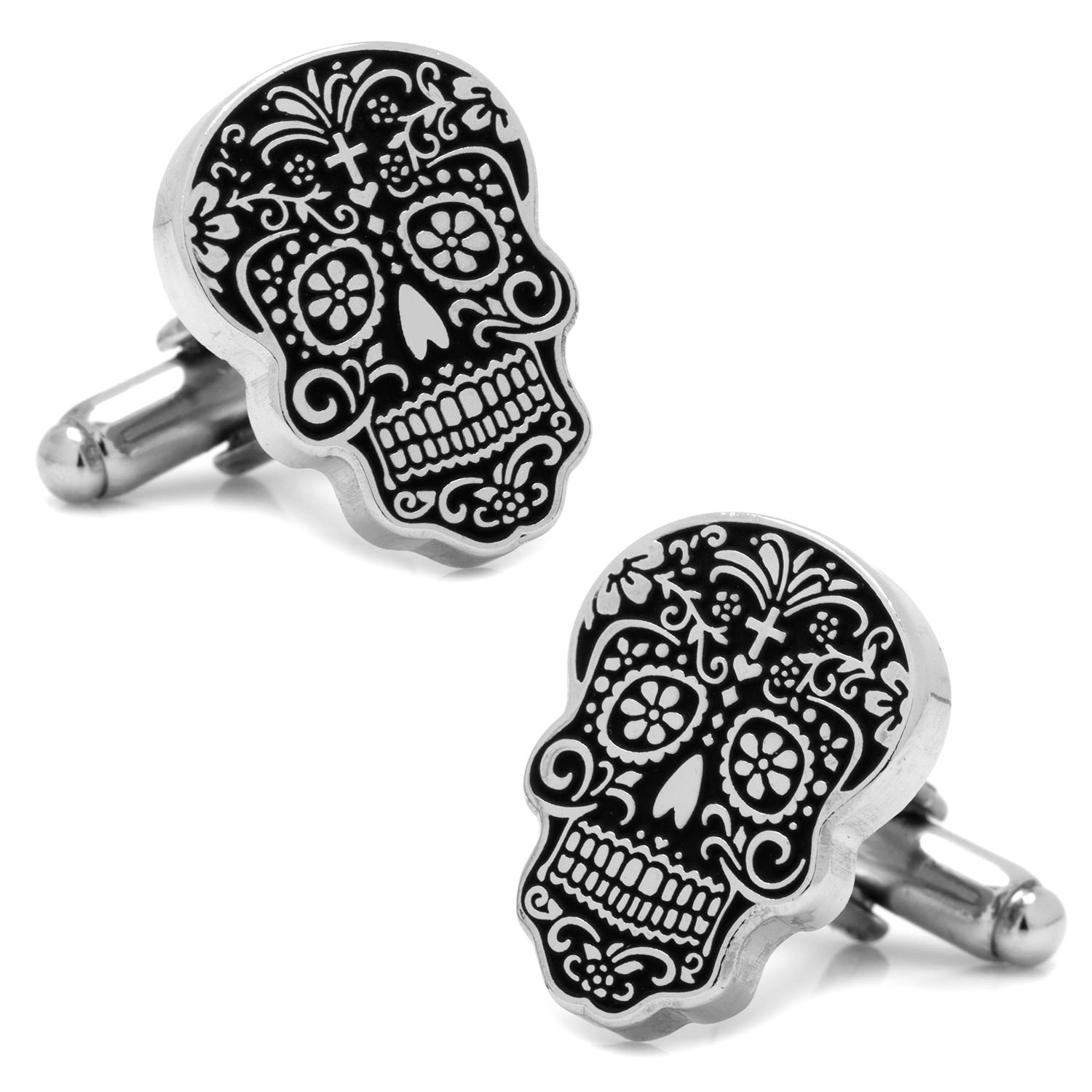 Men's Cufflinks Inc Silver Day of the Dead Cufflinks