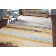 "Mohawk Home Muse Odin Lagoon Woven Area Rug, 5'3""x7'10"", Blue & Yellow"