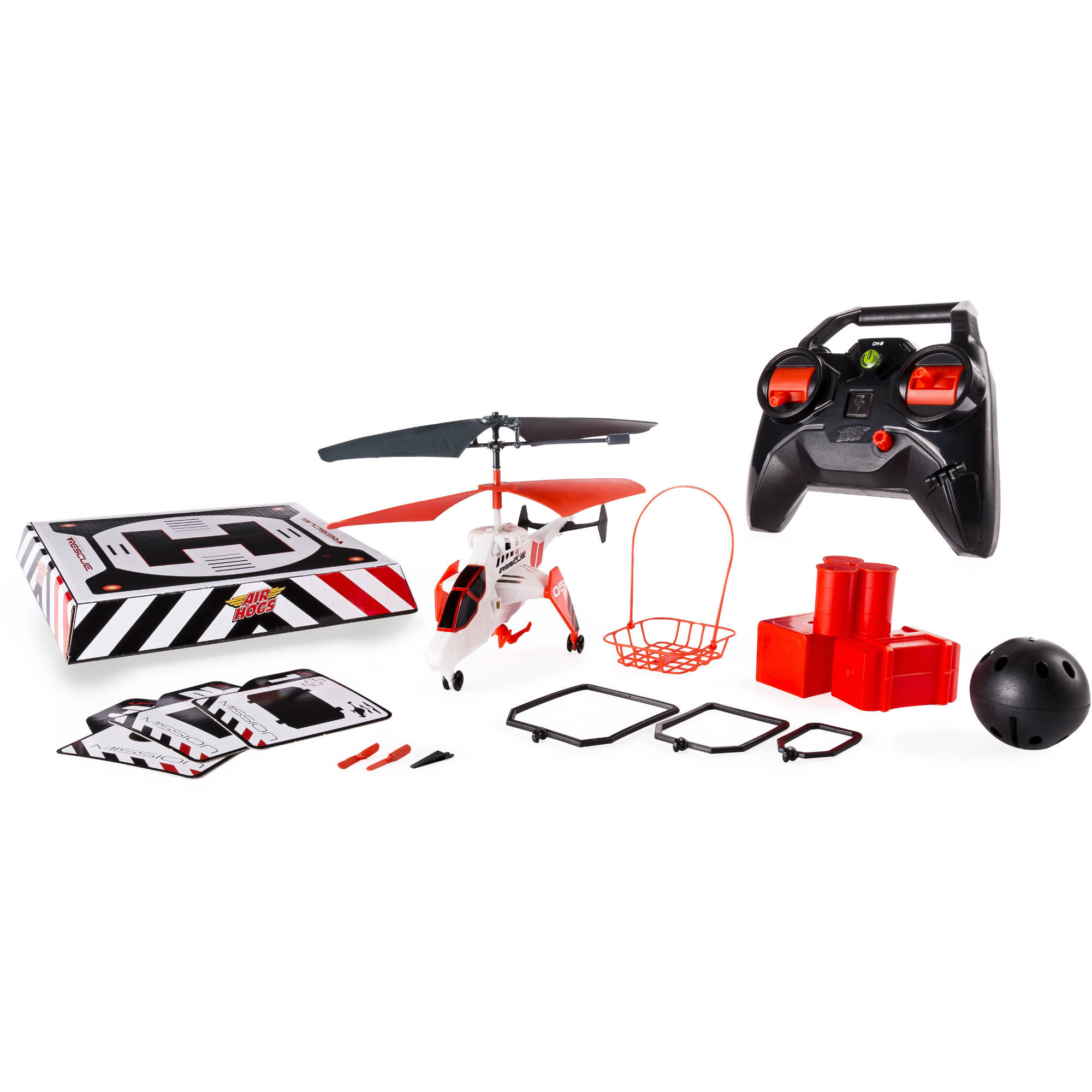 Air Hogs Mission Alpha Ultimate Mission RC Helicopter, White