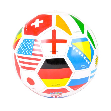 Mozlly Sports Accessories and Equipment Rhode Island Novelty International Flags Regulation Sized Soccer Ball (Multipack of - International Soccer Ball
