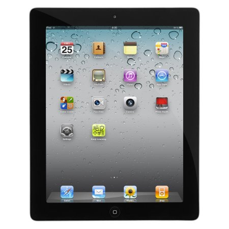 Refurbished Apple iPad 2 16GB 9.7' Touchscreen Wi-Fi Dual Cameras Tablet - Black - MC769LLA-ENGRAVED