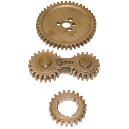 Cloyes 8-5145 Dual Idler Gear Drive; Incl. Billet Steel Gears; Heavy Duty Idler Shaft; 3 Keyway Crank Gear; Bronze Washer; Hardware;