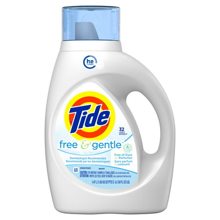 Tide Free & Gentle, HE Turbo Clean Liquid Laundry Detergent, 32 loads, 50 fl (Best Detergent To Use In Washing Machine)