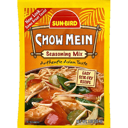 Sun bird chow mein seasoning mix 1 oz pack of 24 walmart com