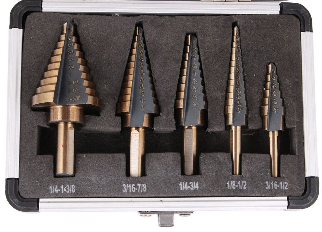 5Pcs Cobalt Multiple Hole 50 Sizes Step Drill High Speed Steel Bit Set Tool