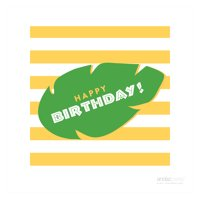 Happy Birthday Jungle Safari Adventure Birthday Thank You Square Gift Tags, 24-Pack
