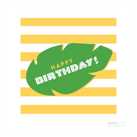 Happy Birthday Jungle Safari Adventure Birthday Thank You Square Gift Tags, (Happy Birthday Gift Tags)
