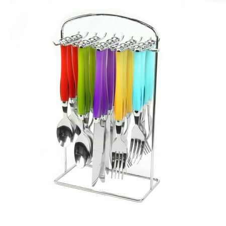 Gibson Santoro 20Piece Stainless Steel Flatware Set With Hanging Rack,