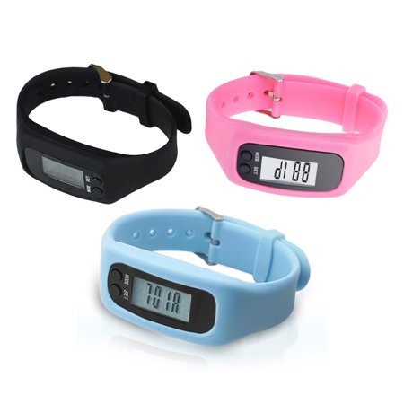 Pedometer Sports Monitor Running Exercising Step Counter Silicone Wristband - image 5 of 9