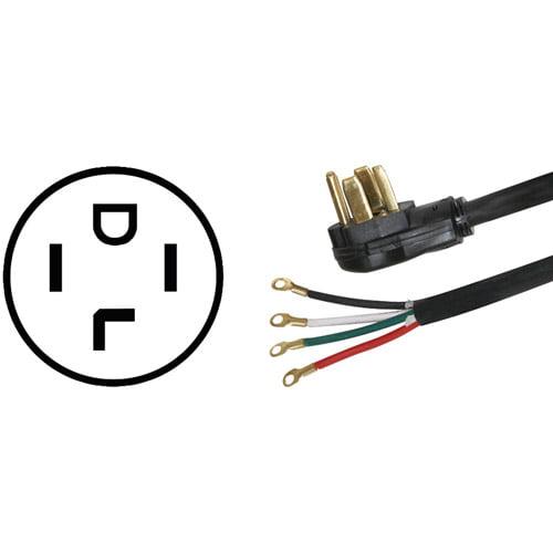 Certified Appliance 77060 4-Wire Dryer Cord, 4'