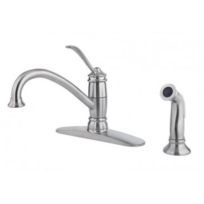 Faucet 1Handle with Sprayer Stainless Steel - image 1 de 1