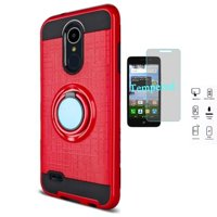 ... Stand Case + Tempered Glass Screen Protector (Red). Product Image Phone Case for LG Aristo 2 Plus, LG Fortune 2, LG Risio 3,