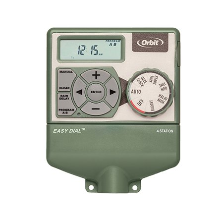 Orbit 4 Station Easy Dial Irrigation Water Timer with Smart Budgeting Feature