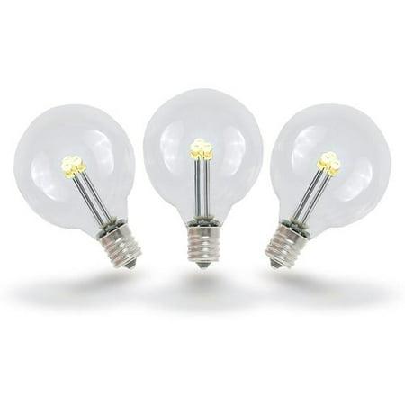 Novelty Lights 0.50 Watt, G40 LED Light Bulb, E12/Candelabra Base (Set of (Kleenguard G40 Purple Nitrile Foam)